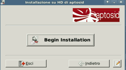 Begin Installtion